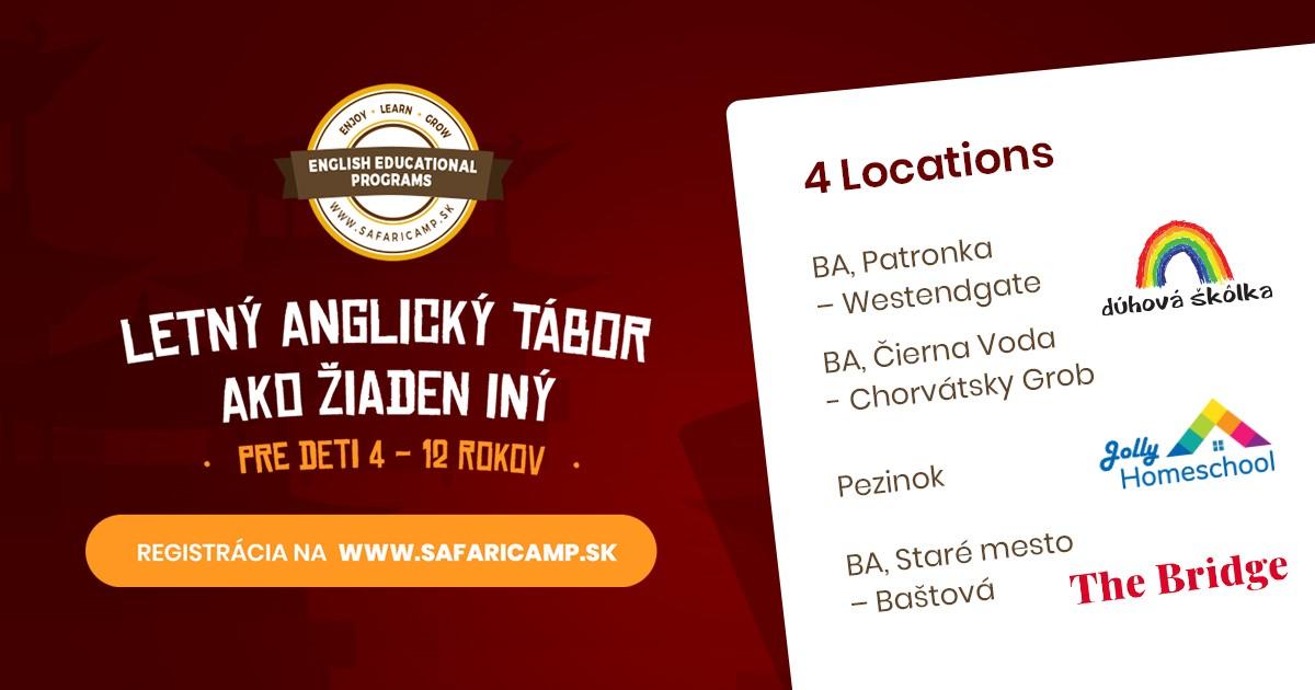 Anglický denný tábor SAFARI na Slovensku