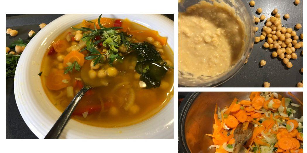 Zdravá cícerová polievka na spôsob gulášu