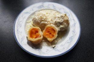 Zemiakové gule plnené marhuľami