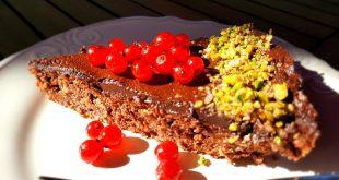 Cuketový perník s tvarohom, pripravený ako nízkosacharidový koláč