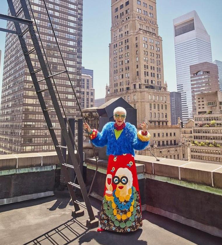 Najstaršia modelka Iris Apfel má 100 rokov - foto na streche
