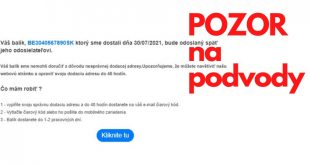 Ďalšie podvodné maily zo Slovenskej pošty