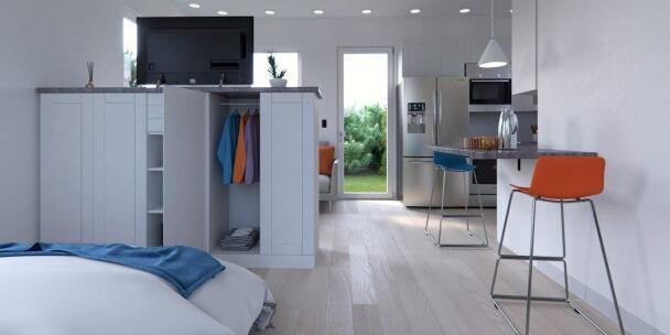 Mobilný dom na bývanie. Miliardár Musk býva v mobilnom domčeku!