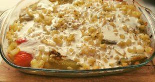 Pečená paprika plnená zemiakmi a cibuľou
