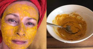Výživná maska na tvár a dekolt z kurkumy