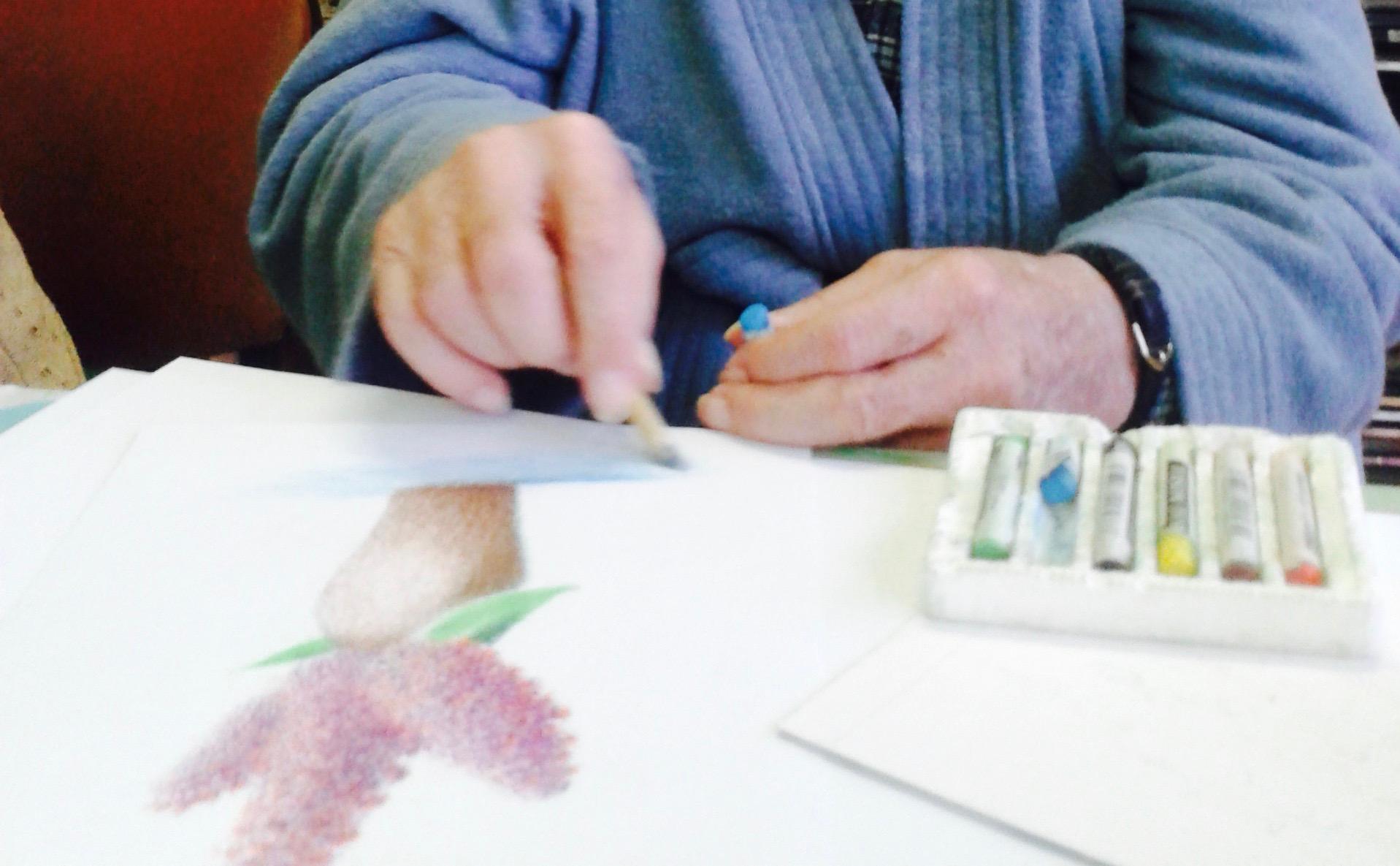 arterapia v dome seniorov